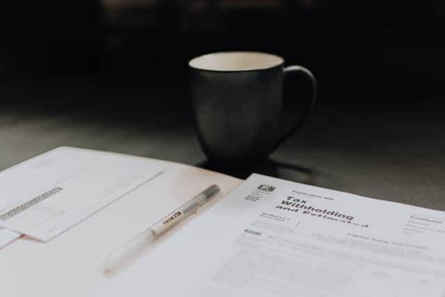 coffee and documents